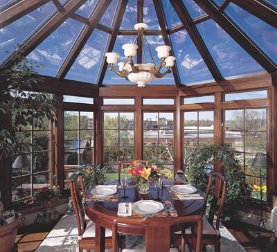 Victorian-style conservatory interiors