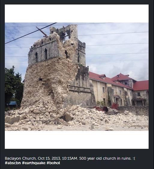 Baclayon Church in ruins