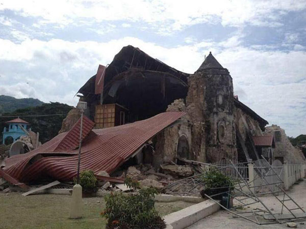 Loboc Church after the earthquake