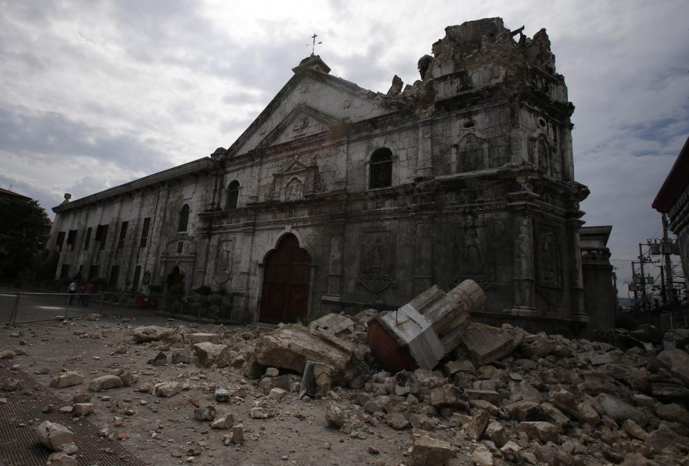 Sto. Nino Church Cebu damage