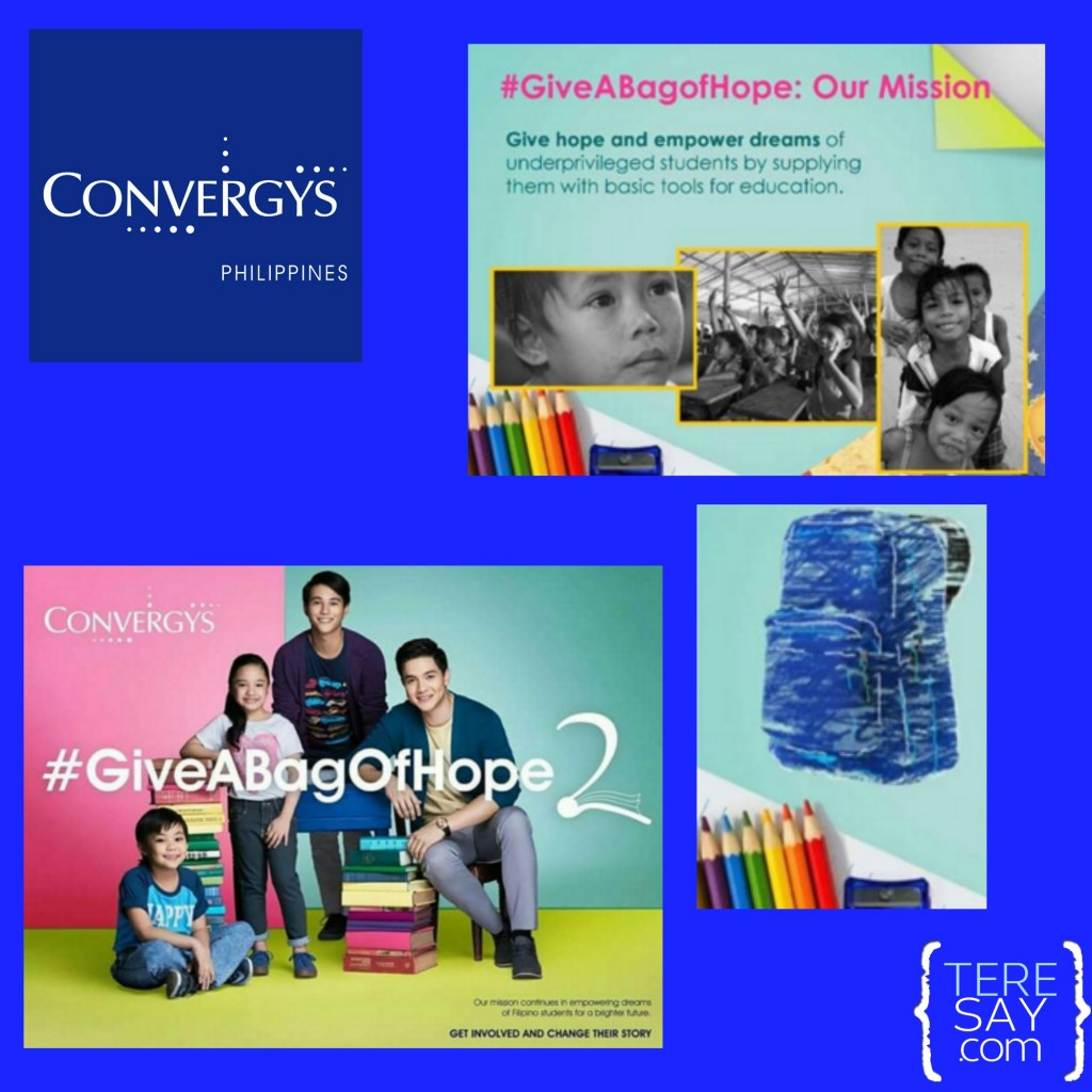 convergys give a bag of hope