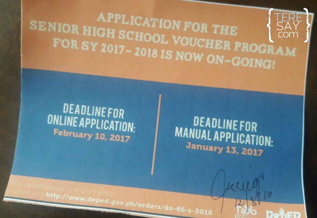 senior high school voucher program